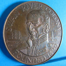 1979 Western Australia 150th Anniversary Medal Swan River Colony 1929 #5005