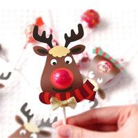 25 pcs / Set Lovely Elk Lollipop Paper Holder Christmas Party Wedding Decor