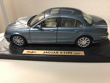 Maisto - Jaguar S-Type 1999 - Die Cast Model - Blue Gray 1:18 Scale - Used