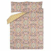 Tile Print Easy Care Reversible Duvet Set DOUBLE with 2 Pillowcases - NEW