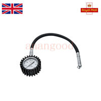 TireTek Flexi-Pro Tyre Pressure Gauge With Right Angle Motorbike Chuck