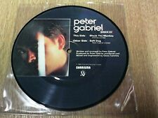"""PETER GABRIEL 7"""" PICTURE DISC SHOCK THE MONKEY / SOFT DOG 1982 SHOCK 122"""