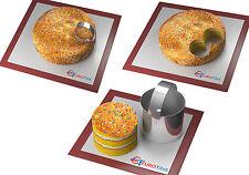 Forma redonda de acero Cookie Pastel Rebanadora / Cortadora De 3 Pulgadas De Profundidad Con Manija