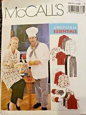 McCalls 2233 Chef Unisex Sz 38-40 Uniform Essentials: Apron, Jacket, Hat, Pants
