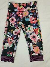 OLD NAVY Girls Floral Elastic Waist Athletic Stretch Capri Legging size S/P(6-7)