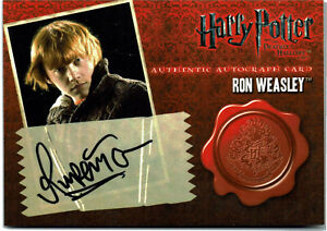 Harry Potter Deathly Hallows Part 1 Autograph Card Rupert Grint as Ron Weasley