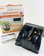 Sylvania SYL-WH925GB Over the Ear Cup Headband Wireless Headphones 100 Ft Range