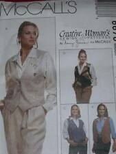 McCALL'S #6678-LADIES REVERSIBLE ( 4 STYLE ) VEST - PIN & CINCH PATTERN 12-14 FF
