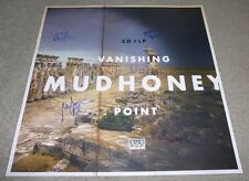 MUDHONEY COMPLETE BAND SIGNED VANISHING POINT POSTER w/ PROOF! 24x24 inches