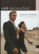 JAMES BOND MI6 CONFIDENTIAL MAGAZINE ISSUE #4 QUANTUM OF SOLACE  DANIEL CRAIG