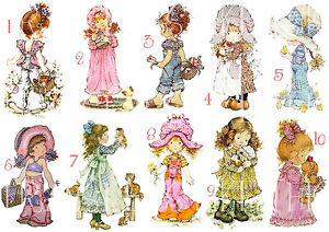 SARAH KAY STICKER WALL DECAL DECOR HOLLY HOBBIE #3