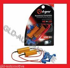 Resistenza Lampade HID+LED D-GEAR 12/24V 50W 6 Ohm cementatata per KIT XENON