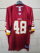 VINTAGE Maillot foot américain RESDKINS WASHINGTON Davis 45 NFL shirt XL REEBOK
