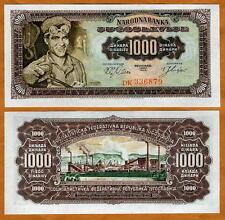 Yugoslavia, 1000 (1,000) dinara 1963, P-75, UNC