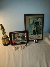 "Vintage BOY SCOUT AWARD TROPHY 11"" Metal Bronze/Memorabilia Lot"