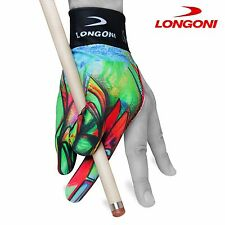 LONGONI Billiard POOL CUE GLOVE Leonardo 1 for Left hand + FREE SHIPPING!
