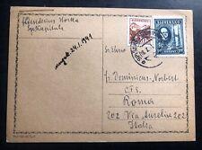 1941 Spiscke Slovakia Postcard Cover To Rome Italy