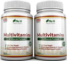 Multivitamins & Minerals Formula - 365 Tablets by Nu U Nutrition (Up to 1 Year S