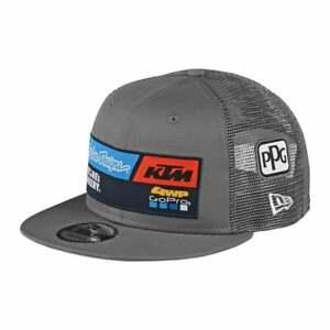 Troy Lee 2020 Adults Team KTM TLD Motocross MX Enduro Bike Snapback Hat - Grey