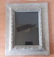 """Gray Washed Wood Flower Vin Photo Picture Frame 4 1/2"""" x 6 1/2"""""""