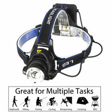 5000LM ZOOMABLE XM-L T6 LED Headlamp Headlight 4XAA For Fishing Hunting Camping