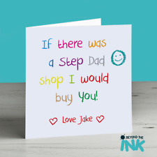 Cute Personalised Birthday Card For Step Dad Daddy Fathers Day