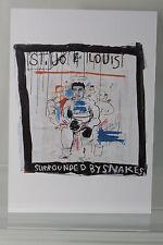 """JEAN-MICHEL BASQUIAT : """"ST.JOE LOUIS""""  Kunst-Postkarte"""