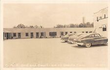A60/ Oneida Tennessee Tn 1951 RPPC Postcard B&Z Grill and Court Autos Cline