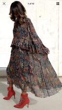 ZARA WOMAN LONG MIDI MAXI PAISLEY PRINT FLOWING HIGH NECK DRESS SIZE XS/S BNWT