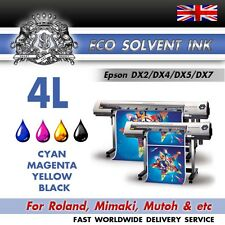 1 Litre Any Colour Eco Solvent ink for Roland, Mimaki, Mutoh - Epson DX2/4/5/7