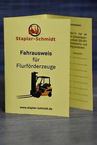 Gabelstaplerschein - Ausweis für Flurförderzeuge - Fahrerausweis Gabelstapler