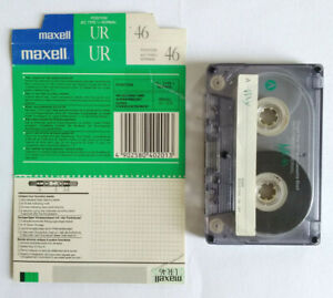 MC Musicassetta MAXELL UR 46 Vintage Compact Cassette Audiotape USATA no sony 1