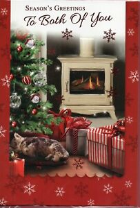 To Both Of You Christmas Card Choice Of Traditional Designs Size 20 x 14cm