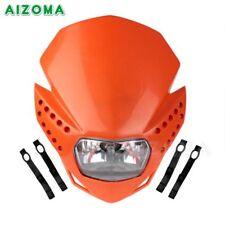 Orange Supermoto Front Enduro Light Headlight Lamp Dirtbike For Honda Yamaha KTM