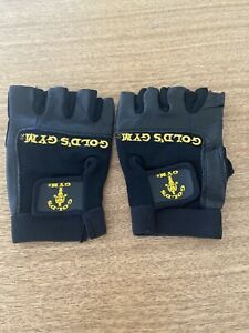 GOLDS MAX-LIFT-TRAINING-GLOVES-BLACK-LARGE-LEATHER-REINFORCED STITCHED IN PALM