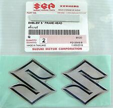 "2 x ORIGINAL Suzuki ""S"" EMBLEM-LOGO- 4cm -Aufkleber-Emblema-Sticker-40mm-GENUINE"