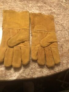 100% Leather Gardening Gloves with Long Gauntlet Sleeves for Men & Women
