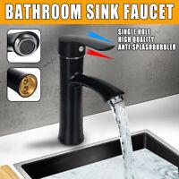 Matte Black Bathroom Sink Tap Basin Mixer Tap Set Waterfall Bath Filler Faucet