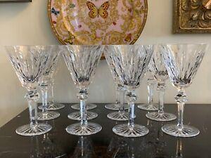Vintage Waterford Shandon Pattern Water Goblet Glasses Set of 12