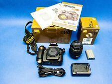 Nikon D80 10.2MP Digital SLR Camera - Black (Kit w/ 18-55mm Lens); Excellent