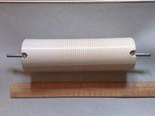 HAM RADIO VINTAGE CERAMIC GLAZED COIL FORMER * HUGE 187mm x 60mm * EX-MILITARY