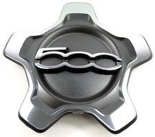 Fiat 500X Alloy Wheel Centre Cap Trim Black / Chrome New and Genuine 735626312