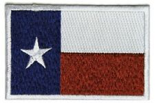 "(C49) Subdued TEXAS FLAG 3"" x 2"" iron on patch (5205) Biker"