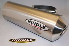 "Hindle 14"" long for 2"" pipe Oval Titanium SS Muffler (only) LEFT  - 753S-1420TL"