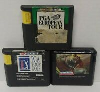 PGA Tour, European Golf, Jack Nicklaus  - Sega Genesis Working 3 Game Lot Games