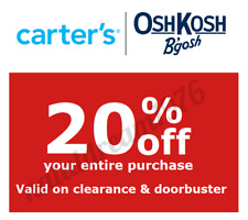 CARTER'S carters 20% off EVERYTHING code coupon Valid on CLEARANCE DOORBUSTERS