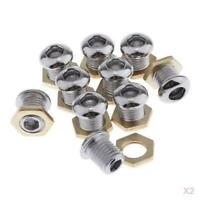 """20x Badge Grommet Style Drum Air Vent Chrome for Bass Snare Tom Build 1/2"""""""