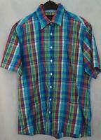 Men's 'JACKS' Short Sleeve Summer Shirt Check Chequered Size M Medium