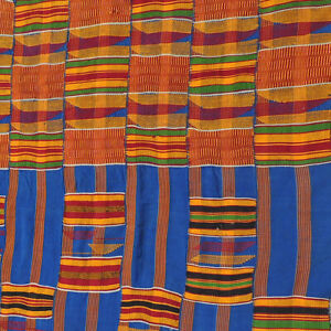 huge old 152x112 inch hand woven african man's kente cloth textile ewe ghana #19