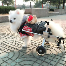 L Size Aluminum Pets Puppy Dog Wheelchair For Handicapped Hind Legs 2 Wheels